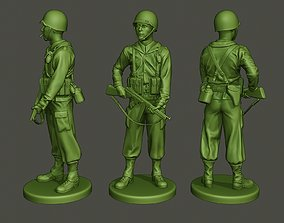 3D printable model American soldier ww2 StandGuard