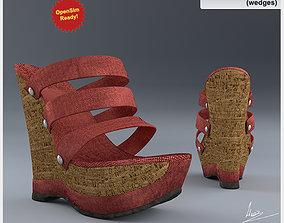 Shoe 11-2 wedges 3D model low-poly
