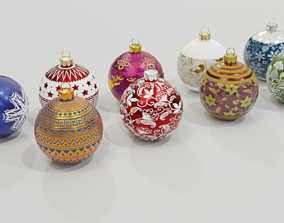 realtime Christmas Baubles - 3D