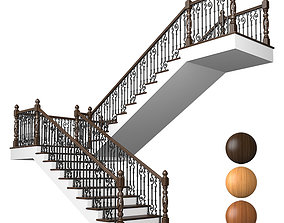 fencing 3D Classic stairs 02