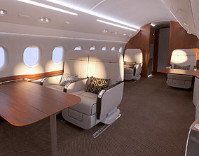3D airliner Buisiness jet interior