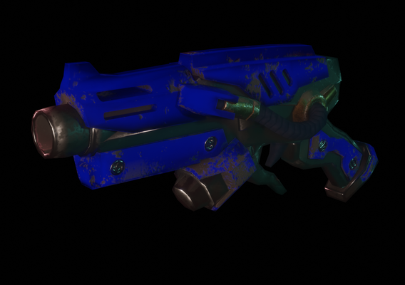 Pistol Stylized Blue