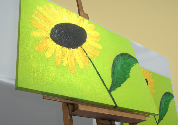 Yellow Flower - Oil Painting