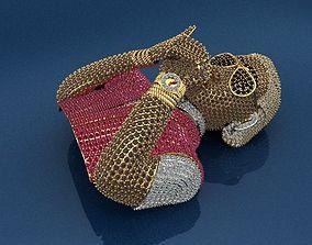 3D print model Cool Pandant Smoking man