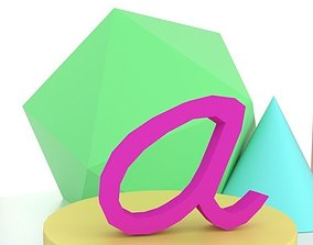 3D printable model A Letter Montessori