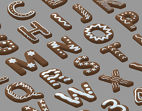3D model Cookie Text