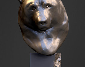 3D printable model Grizzly Bear Head Sculpture