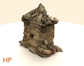 Scanned Stone Stupa Building 3D asset