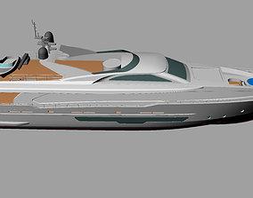 3D Modern Yacht 33mt