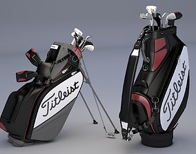 3D Titleist Golf Bags Tour Staffs
