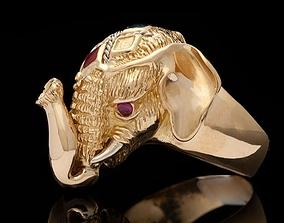 3D print model sculpture Elephant Ring