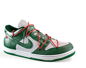 Nike Dunk Sb Off WhiteOsthich with ostrich 3D model 1