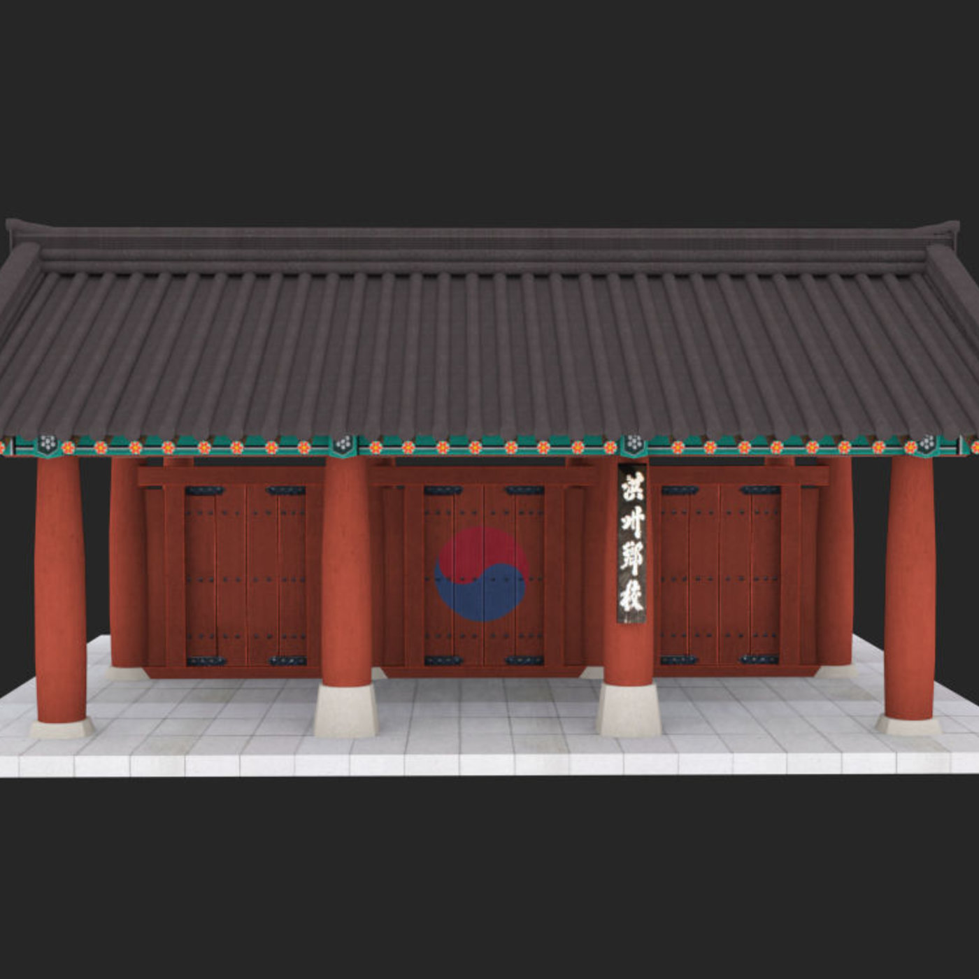 Modeling Korean traditional buildings and universities