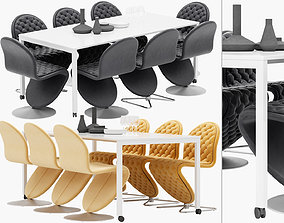 Verpan Panton Move Table - dining chair standard and 3D