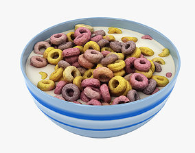 3D Bowl of Cereal 001