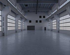 3D asset Factory Hall Interior 3