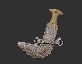 Omani Khanjar 3D Printable Model knife