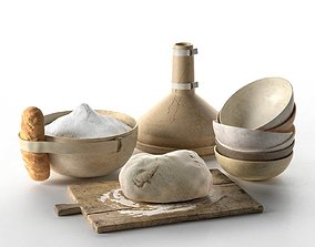 3D model Dough Cooking Setup