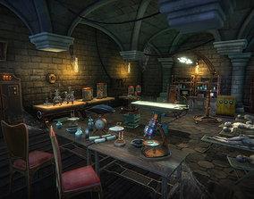 3D asset Mad scientist lab scene