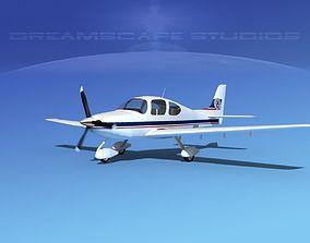 3D model Cirrus SR22 Civil Air Patrol