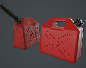 Gasoline Can PBR Game Ready 3D model
