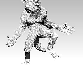 wolf statue 3D print model