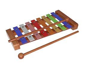 Xylophone rainbow childrens 3D model