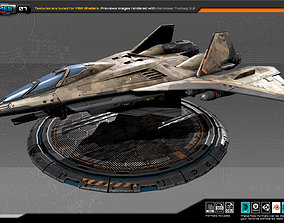 RTS Heavy fighter - 07 3D asset