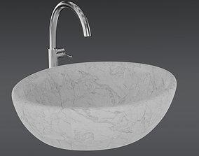 3D asset Modern Wash Basin