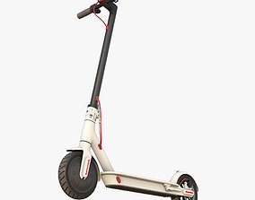 Electric Scooter mi white 3D