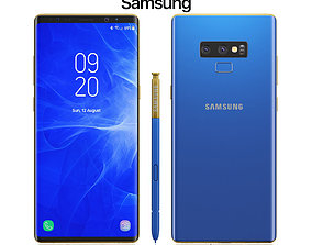 Samsung Galaxy Note 9 Blue 3D gear