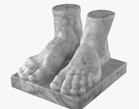 Atlant Feet 3D Scanned Model for 3ds Max Corona low-poly