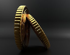 3d bitcoin digital crypto currency coin