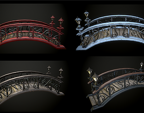 Bridge 4 texture options low and high poly 3D model