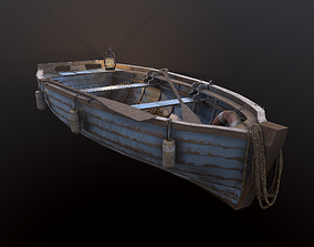 3D asset Fishing Boat with tools