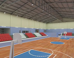 Basketball Court 3D model game-ready