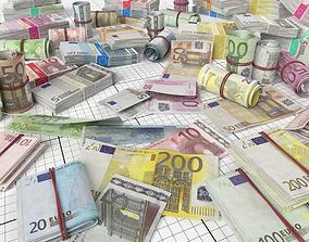Euro Money Pack 3D asset game-ready