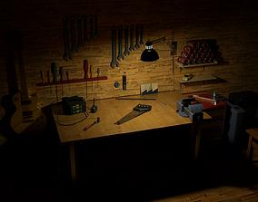 3D Tools room HQ interior models