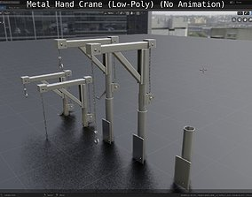 3D asset realtime Metal Hand Crane
