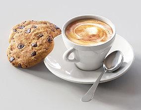 3D model coffee cookie