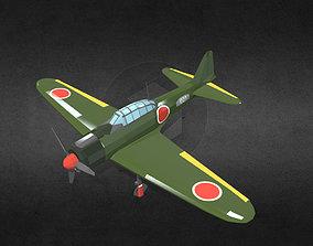 Mitsubishi A6M Zero 3D asset