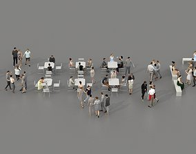 realtime 3D PEOPLE CROWDS- ULTIMATE SPEED - CAFETERIA 2
