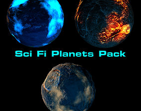 Sci Fi Planets Pack 3D
