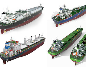 Ships collection 04 hquality 3D model