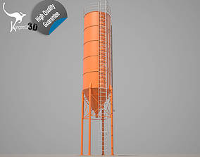 3D asset rigged Cement silo - 54m3