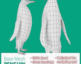 Penguin 3D model game-ready