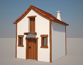 3D model Cartoon Medieval House 03