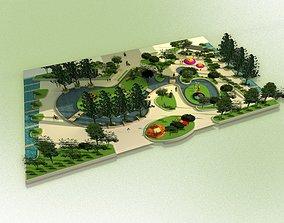 public park 3D asset