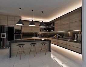 Kitchen fridge oven 3D model