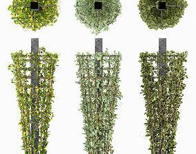 Creeping plant on Metal Column 3D asset